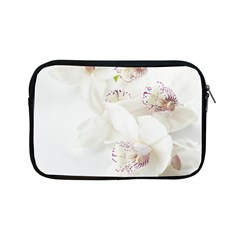 Orchids Flowers White Background Apple Ipad Mini Zipper Cases by BangZart