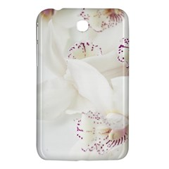 Orchids Flowers White Background Samsung Galaxy Tab 3 (7 ) P3200 Hardshell Case  by BangZart