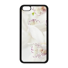 Orchids Flowers White Background Apple Iphone 5c Seamless Case (black) by BangZart
