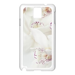 Orchids Flowers White Background Samsung Galaxy Note 3 N9005 Case (white) by BangZart