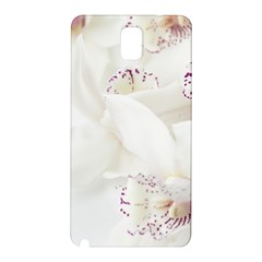 Orchids Flowers White Background Samsung Galaxy Note 3 N9005 Hardshell Back Case