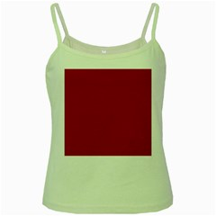 Usa Flag Red Blood Red Classic Solid Color  Green Spaghetti Tank