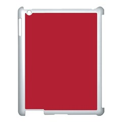 Usa Flag Red Blood Red Classic Solid Color  Apple Ipad 3/4 Case (white) by PodArtist