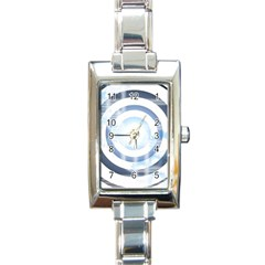 Center Centered Gears Visor Target Rectangle Italian Charm Watch