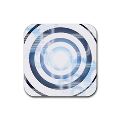Center Centered Gears Visor Target Rubber Square Coaster (4 Pack)  by BangZart