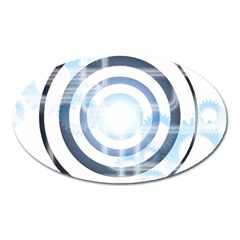 Center Centered Gears Visor Target Oval Magnet by BangZart