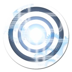 Center Centered Gears Visor Target Magnet 5  (round) by BangZart