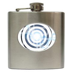 Center Centered Gears Visor Target Hip Flask (6 Oz) by BangZart