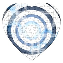 Center Centered Gears Visor Target Jigsaw Puzzle (heart) by BangZart