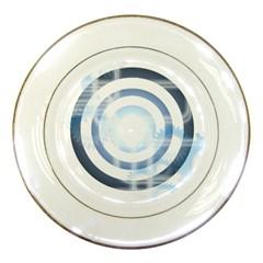 Center Centered Gears Visor Target Porcelain Plates by BangZart