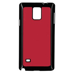 Usa Flag Red Blood Red Classic Solid Color  Samsung Galaxy Note 4 Case (black) by PodArtist