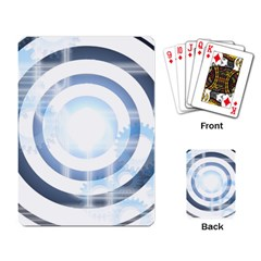 Center Centered Gears Visor Target Playing Card by BangZart