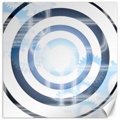 Center Centered Gears Visor Target Canvas 20  X 20