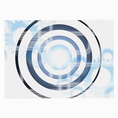 Center Centered Gears Visor Target Large Glasses Cloth (2 Side) by BangZart
