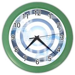 Center Centered Gears Visor Target Color Wall Clocks