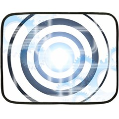 Center Centered Gears Visor Target Double Sided Fleece Blanket (mini)