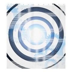 Center Centered Gears Visor Target Shower Curtain 66  X 72  (large)