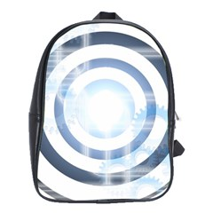 Center Centered Gears Visor Target School Bags(large)