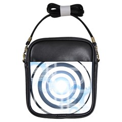 Center Centered Gears Visor Target Girls Sling Bags by BangZart
