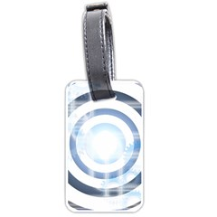 Center Centered Gears Visor Target Luggage Tags (two Sides)