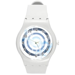 Center Centered Gears Visor Target Round Plastic Sport Watch (m) by BangZart