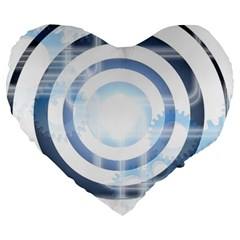 Center Centered Gears Visor Target Large 19  Premium Heart Shape Cushions by BangZart