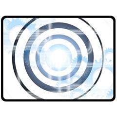 Center Centered Gears Visor Target Double Sided Fleece Blanket (large)