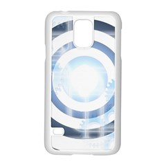Center Centered Gears Visor Target Samsung Galaxy S5 Case (white)
