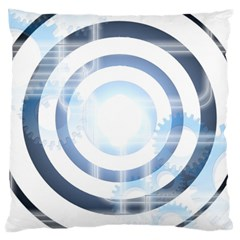 Center Centered Gears Visor Target Large Flano Cushion Case (two Sides) by BangZart