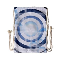Center Centered Gears Visor Target Drawstring Bag (small)