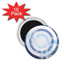 Center Centered Gears Visor Target 1 75  Magnets (10 Pack)  by BangZart