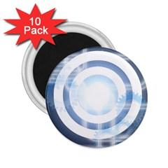 Center Centered Gears Visor Target 2 25  Magnets (10 Pack)