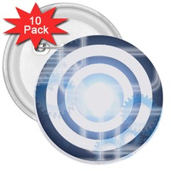 Center Centered Gears Visor Target 3  Buttons (10 Pack)  by BangZart