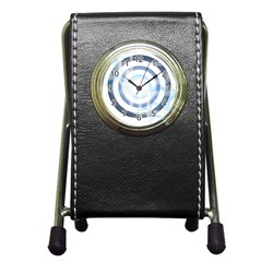 Center Centered Gears Visor Target Pen Holder Desk Clocks