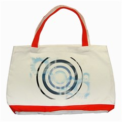 Center Centered Gears Visor Target Classic Tote Bag (red)