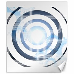 Center Centered Gears Visor Target Canvas 20  X 24