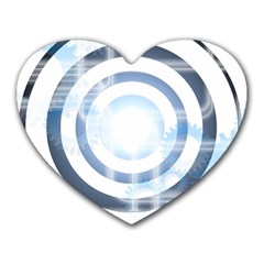 Center Centered Gears Visor Target Heart Mousepads