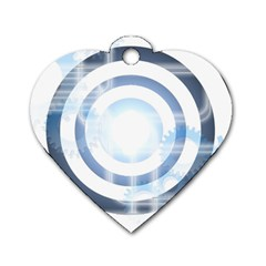 Center Centered Gears Visor Target Dog Tag Heart (one Side) by BangZart