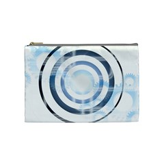 Center Centered Gears Visor Target Cosmetic Bag (medium)