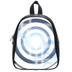 Center Centered Gears Visor Target School Bags (small)  by BangZart