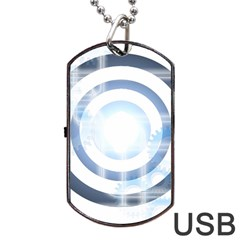 Center Centered Gears Visor Target Dog Tag Usb Flash (two Sides) by BangZart