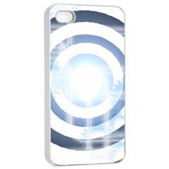 Center Centered Gears Visor Target Apple Iphone 4/4s Seamless Case (white) by BangZart