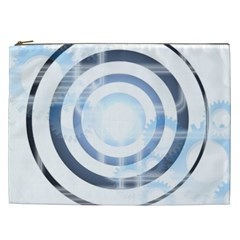 Center Centered Gears Visor Target Cosmetic Bag (xxl)  by BangZart