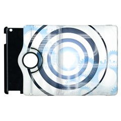 Center Centered Gears Visor Target Apple Ipad 3/4 Flip 360 Case by BangZart