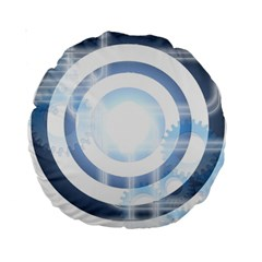 Center Centered Gears Visor Target Standard 15  Premium Round Cushions