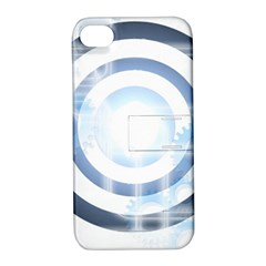 Center Centered Gears Visor Target Apple Iphone 4/4s Hardshell Case With Stand by BangZart