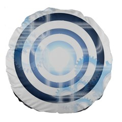 Center Centered Gears Visor Target Large 18  Premium Flano Round Cushions by BangZart