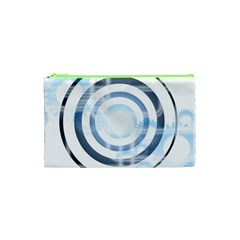 Center Centered Gears Visor Target Cosmetic Bag (xs) by BangZart