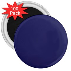 Usa Flag Blue Royal Blue Deep Blue 3  Magnets (100 Pack) by PodArtist