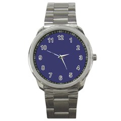 Usa Flag Blue Royal Blue Deep Blue Sport Metal Watch by PodArtist